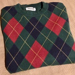 Vintage Benetton Wool Argyle Sweater sz L